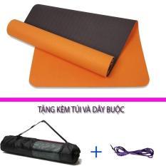 [Lấy mã giảm thêm 30%]Thảm tập yoga TPE Đài Loan 8mm 2 lớp ép nhiệt + Tặng kèm túi và dây buộc (Đủ màu)