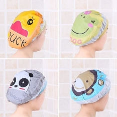 Combo 2 cái Mũ tắm chùm đầu kute dành cho nữ dùng khi tắm gội, ủ tóc, trang điểm, rửa mặt
