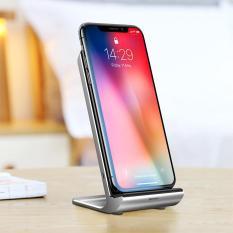 Đế sạc nhanh không dây cao cấp cho kiêm giá đỡ có quạt tản nhiệt công xuất 10W thông minh chuẩn Qi cho iphone X , iphone 8,Samsung S9, Note8 đến từ Hãng Baseus WXLS 01