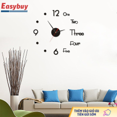 Đồng hồ treo tường acrylic 3D, đồng hồ treo tường DIY tĩnh, trang trí tường
