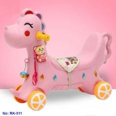 Ngựa chòi chân kết hợp bập bênh có nhạc cho bé RK-511 – xe tập đi, xe thăng bằng, bập bênh cho bé