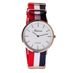 Đồng hồ Unisex Geneva G04 vải dù 3 sọc cao cấp thời trang trẻ trung ,năng động