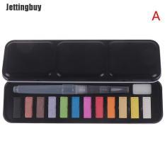 Bộ màu nước Jettingbuy 24 màu, kèm cọ vẽ sơn dầu bằng nhựa, quà tặng cho bé – INTL
