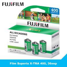 3 cuộn film Fujifilm Superia X-TRA 400, 36exp – Phim chụp ảnh 35mm