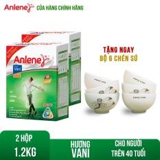 [GIẢM 30K ĐƠN 499k] Bộ 2 Hộp sữa bột Anlene Gold Movepro Vanilla 1.2KG chứa dưỡng chất thiết yếu hỗ trợ hệ Cơ-Xương-Khớp phát triển khỏe mạnh bổ sung Canxi và Ma-giê dành cho người trên 40 tuổi Tặng set 06 chén sứ