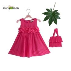 Đầm Voan Dập Ly Kết Hoa BabyBean (Kèm Túi Cầm Tay Thời Trang Cùng Màu)