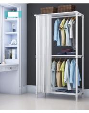 Khung treo quần áo 2 tầng rèm kéo 80cm – Khung treo quần áo RE0506