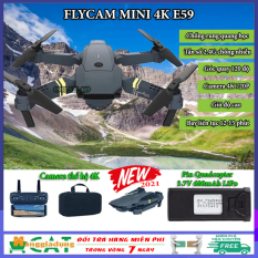 Máy bay điều khiển, Flycam mini 4K E59, Flycam giá rẻ điều khiển từ xa, camera 720P chống rung quang học, Pin Quadacopter 3.7V 600mAh LiPo, tần số 2.4Ghz chống nhiễu, tích hợp giữ độ cao giá rẻ hơn Flycam mavic, flycam f11 pro