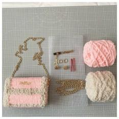 Túi xách len tự đan – Túi len handmade tự đan hot TIKTOK (Có video hướng dẫn + Có thể nhờ Shop đan)