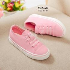 Giày thể thao bé gái màu hồng xinh xắn rất êm chân bé