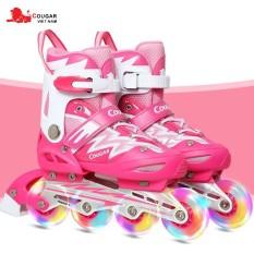 Giày trượt patin Cougar cao cấp CHÍNH HÃNG 4 bánh phát sáng MZS835LQS