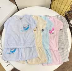 Combo 5 bộ quần áo cộc tay NouBaby (mẫu kẻ ) mặc màu hè cực mát cho bé sơ sinh từ 0 tháng đến 14 tháng