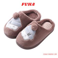 Dép bông trong nhà cho bé FUHA, dép lên mùa đông hoạt hình dễ thương