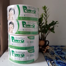 Combo 4 cuộn giấy vệ sinh cuộn lớn 900g Ponyo