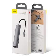 Baseus 6in1 HUB Adapter USB Loại C để USB 3.0 HDMI RJ45 đối với MacBook Pro HUB Splitter đối với Huawei matebook Phụ Kiện Máy Tính – Phân phối bởi Baseus Vietnam