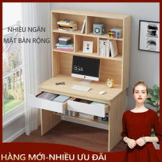 Bàn máy tính bàn học tập có kèm giá sách tiện lợi kiểu dáng đơn giản phù hợp với căn phòng nhỏ, bàn học bàn làm việc cho phòng trọ