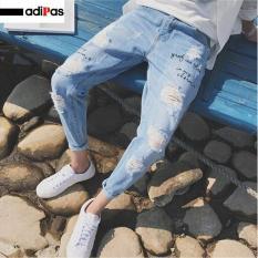 Quần jean nam rách phong cách hàn quốc – quần jean nam ADIPAS (XC167)