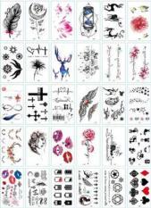Combo 30 Tấm Hình Xăm Dán Flash TattooTha Thu Từ 55 – 120 Mẫu Chống Thấm Nước