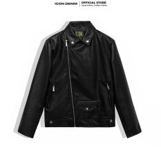ICON DENIM – Áo Khoác Da Biker Nam Leather Jacket