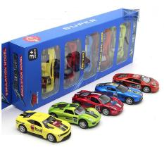 Bộ 5 xe ô tô đồ chơi trẻ em Die cast bằng sắt chạy cót tỉ lệ 1:48
