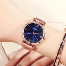 Đồng hồ đeo tay nữ dây kim loại Guou CH319-4, máy Nhật, phong cách châu Âu, màu vàng hồng sang chảnh, dong ho nu chong nuoc, dong ho nu thoi trang, dong ho nu gia re, dongho247, Smart247