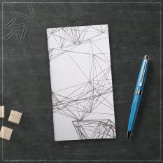Sổ tay planner bìa cứng in hoạ tiết hình ma trận – thu chi, lịch hẹn, to-do list, chấm bi, kẻ dòng