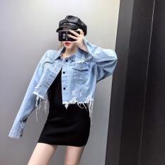 Áo khoác nữ croptop lai rách đầy cá tính sành điệu cho bạn gái thêm xinh (kèm Video) – Hot trend