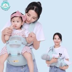 Địu em bé cao cấp có bệ đỡ AIYUANMEI chính hãng nhập khẩu Đài Loan, trợ lực, bệ đỡ có thể tháo rời, có túi đựng đồ.