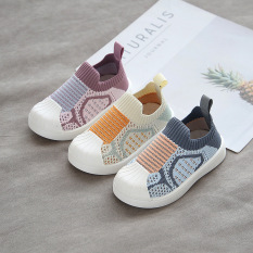 Giày Lười Cho Bé Trai Bé Gái Cổ Chun Đế Bệt Từ 1 Đến 7 Tuổi Phong Cách Canvas Chống Trơn Trượt G41