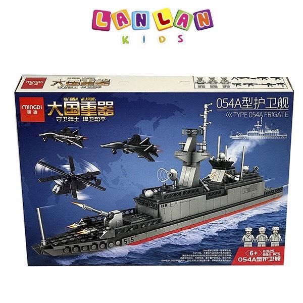 Đồ chơi xếp hình lego mô hình tàu chiến MINGDI Type 056A Corvette KO120, KO125, K0113
