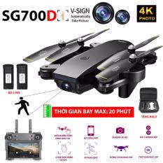 (NEW 2020)BỘ 2 PIN TẶNG BALO – FLYCAM SG700D Camera 4K HD, Hai camera kép, thời gian bay 20p, Wifi 2.4G tích hợp tối đa các thiết bị di động – HÀNG CHÍNH HÃNG BẢO HÀNH 3 THÁNG