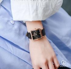 Đồng hồ nữ dây da mặt vuông siêu đẹp Guou 8096