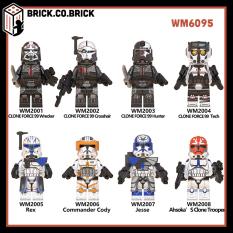 WM6095 – Đồ chơi lắp ráp mô hình minifigure non lego Star Wars- Chiến tranh giữa các vì sao- Darth Maul -Bo Katan- Echo