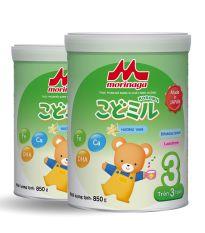 [ HSD 6 tháng] Combo 2 Lon Sữa Morinaga Số 3 Kodomil Cho Bé Từ 3 Tuổi – Hương vani 850gr – HSD T03/2022 (không đai đổi quà)