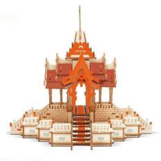 Đồ chơi lắp ráp gỗ 3D Mô hình Đền Thờ Thái Lan Laser – Tặng kèm đèn LED trang trí