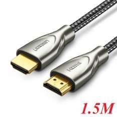 Ugreen 50107 1.5M màu Đen Cáp tín hiệu HDMI chuẩn 2.0 dây bọc lưới đầu hợp kim cao cấp HD131