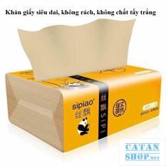 Khăn giấy ăn gấu trúc SIPIAO làm từ sợi tre siêu mềm siêu dai