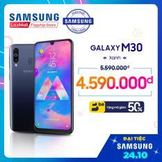 Điện Thoại Samsung Galaxy M30 64GB (4GB) – Màn hình tràn viền vô cực 6.4 SUPER AMOLED Full HD + Cụm 3 Camera sau + Siêu pin 5000 mAh + 2 Nano Sim – Hàng Phân Phối Chính Hãng.