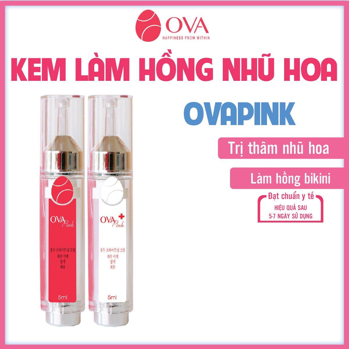 Kem làm hồng nhũ hoa OvaPink, giảm nhanh thâm, ủ dưỡng, làm hồng ti, an toàn và hiệu quả nhanh...