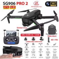 [Trả góp 0%](NEW 2020)TẶNG KÈM BALO – Máy bay Flycam ZLRC SG906 Pro 2 camera 4k gimbal chống rung 3 trục Bay xa 1200m Thời gian bay max 26 phút Hai camera kép Camera Wifi 5G – BẢO HÀNH 6 THÁNG