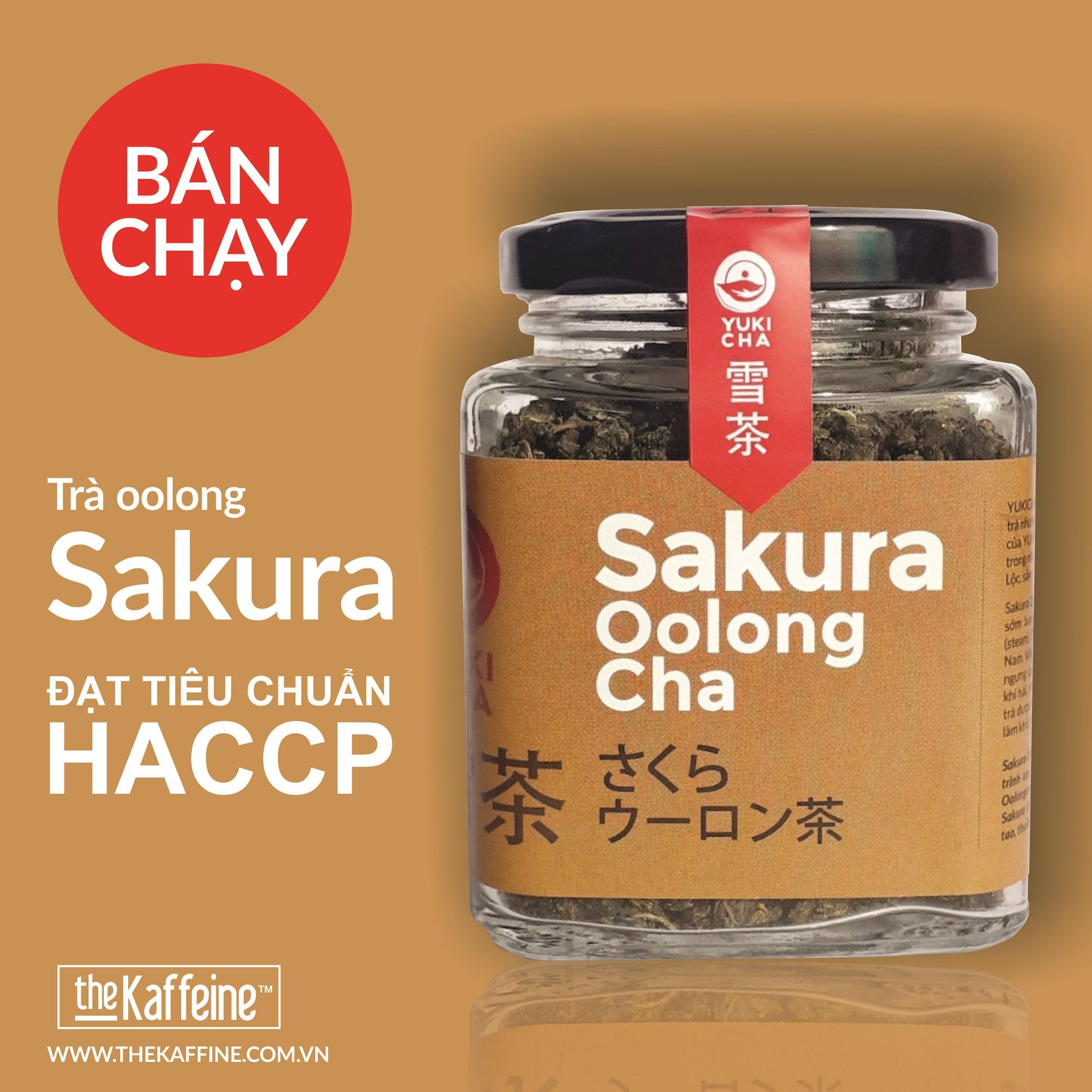 Trà Olong Sakura Thượng Hạng 100gram - Trà Oolong của The Kaffeine Coffee