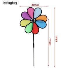 Jettingbuy Colorful Rainbow Dazy Flower Spinner Wind Windmill Garden Yard Outdoor Decor