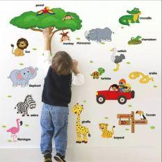 Decal dán tường cho bé đi vườn thú tiếng anh, Đồ Chơi giáo dục an toàn cho bé✅Đồ chơi phát triển trí tuệ thông minh cho trẻ✅Shop Đồ Chơi Trẻ Em Thông Minh✅An Toàn – BỐ SÓC NHÍ