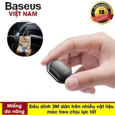 [VOUCHER HOT 50K] Miếng dán đa năng ( Một bộ gồm 4 miếng dán ) Baseus Small Shell Vehicle Hook sử dụng trên xe hơi, văn phòng, nhà riêng tiện dụng (Sticker Paste Holder) – Phân phối bởi Baseus Vietnam