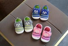 Giày tập đi bé gái bé trai đế kèn chuột micky MS626- ảnh tự chụp