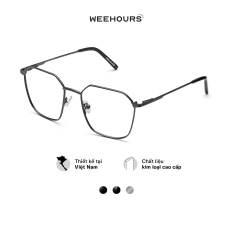 Gọng kính cận nam/nữ WeeHours DOPE, dáng vuông thời trang, chất liệu kim loại không gỉ