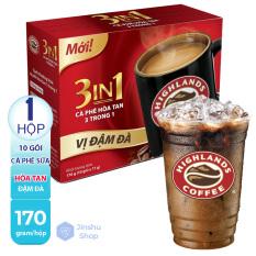 [ CÀ PHÊ SỮA ĐẬM ĐÀ – QUÁ NGON ] Hộp 10 gói cà phê sữa vị đậm đà HighLands 170gr (Date: 03/2022)