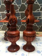Đèn tạ gỗ hương cao 40