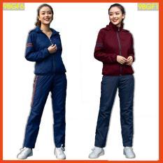 Bộ gió nữ 2 Lớp CARDINA, Cản Gió – Giữ ấm, Chống bám bụi, chống mưa phùn, Bộ quần áo thể thao nữ