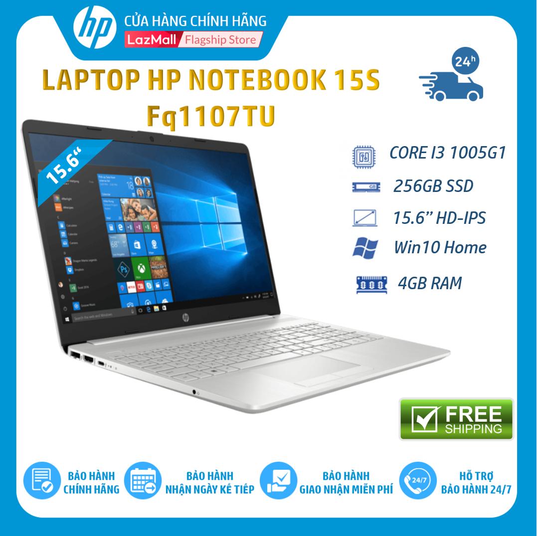 Laptop HP 15s-fq1107TU, Core i3-1005G1(1.20 GHz,4MB),4GB RAM,256GB SSD,Intel UHD Graphics,15.6″HD,Wlan ac+BT,3cell,Win 10 Home 64,Silver,1Y WTY-193Q3PA – Hàng Chính Hãng